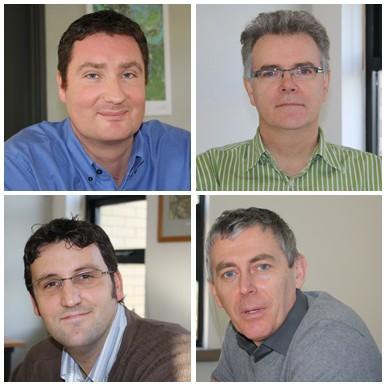 Steve Haines, Charlie Sweeney, Arwel Owen and Duncan Chadwick