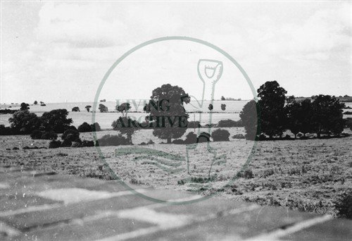Photograph of site of Greenleys Estate taken from railway bridge at Old Bradwell (1971).