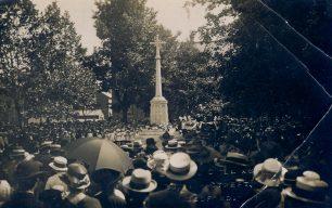 Dedication of the original war memorial in the Square Wolverton in 1919