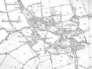 O.S. Map, Deanshanger 1860s