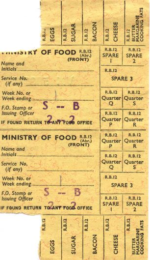 Food rationing was a vitally important issue