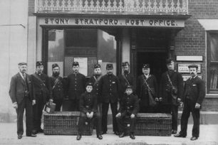 The employees of Stony Stratford Post Office, Head Postmaster, Sub-postmaster, Postmen and Telegram boys