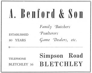 Advert in Official Guide to Bletchley 1960