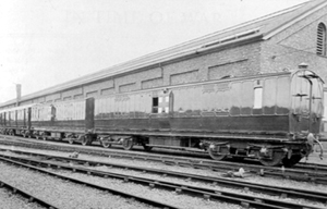 The Ambulance train, in the Wolverton Works yard