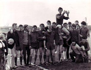 Wiltonians after beating Edlesborough United 1970