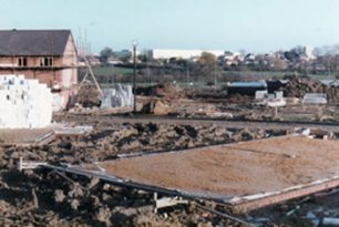 Foundations of our new home in 1984