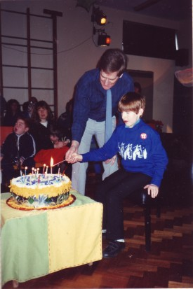 Chris and Mr Shelley 14th Birthday