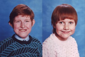 School pictures of Chris and Clare