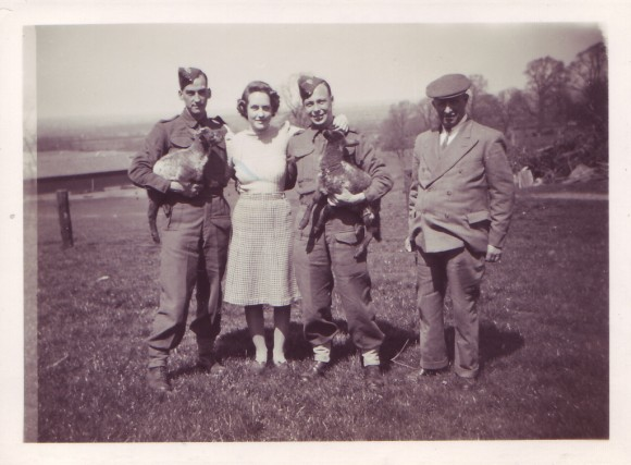 Soldiers billeted at Home Farm with Mr. Peverill and his daughter