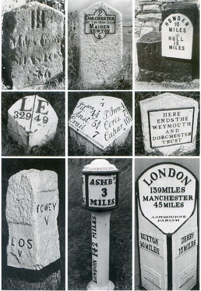 Samples of other national mileposts