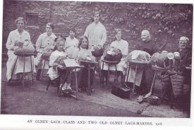 A black and white image of Olney Lace Makers.
