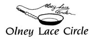 Black and White drawing of Olney Lace Circle Logo