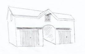 Sketch showing the original stable/coach house