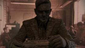 Slate statue Alan Turing
