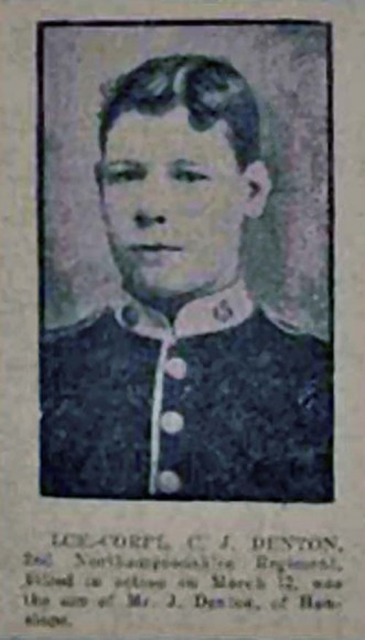 James Ralph Denton - obituary photo in Northampton Mercury