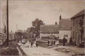 Long Street, Hanslope where James Denton grew up