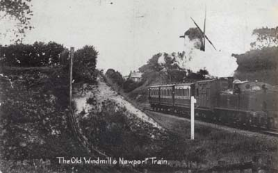 Bradwell windmill and Newport Train