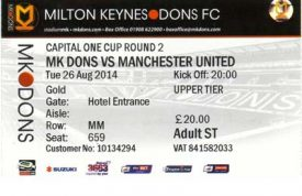 ticket for Manchester United Game