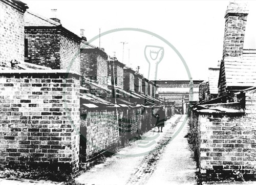 Rear of houses in the Little Streets (Accession Ref: XWN/P/079).