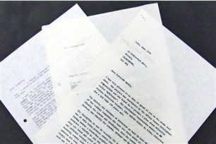 Research process - correspondence about 'All Change' (1976-1977).