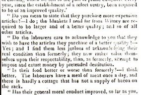 Northampton Mercury - Transcript of an extract from an 'examination of the changes in the personal conditions and expectations of labourers by Mr. Whateley and Mr. Chadwick (1834).