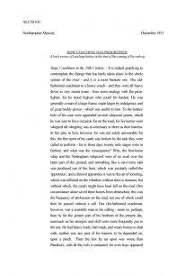 Northampton Mercury - Extract on how coaching has progressed  (1831).