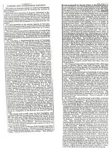 Northampton Mercury - London and Birmingham railway, how the proposed railway will benefit industry (1831).