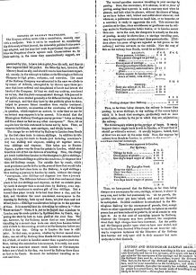 Northampton Herald - Editorial reply to Mercury letter regarding the expence of rail travel (1838).