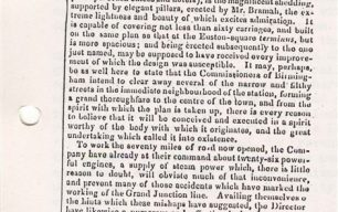Newspaper - Article on the early working of the line: passenger safety, the police and signalling (1838).