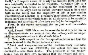 Birmingham Herald -  Report on half-yearly report of the London & Birmingham Railway Company (1837).