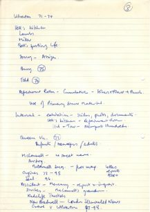 Notes listing local references (1976).