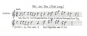 All Change 'Hal-An-Tow' music and lyrics (Interval).
