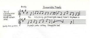 All Change 'Honourable Frauds' music and lyrics (Act 1- Sc.4).
