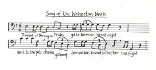 All Change 'Song of the Wolverton Week' music and lyrics (Act 1 - Sc.10).