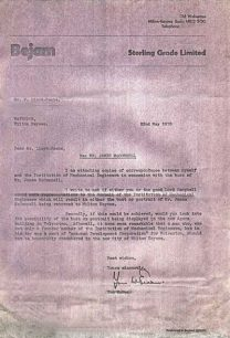 Letter from Tom McEwan to Fred Lloyd-Roche asking for assistance regarding negotiations about the bust of James McConnell (1978).