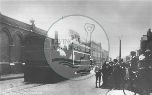 The steam tram at Wolverton (Accession Ref: XWN/P/013).