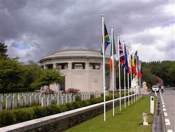 Photograph of the Ploegsteert Memorial to the Missing at the Royal Berkshire Cemetery Extension