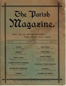 The Parish Magazine, Newport Pagnell issue no.272 (August 1914)
