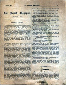 The Parish Magazine, Newport Pagnell (August 1921)