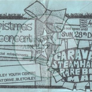 Bletchley Youth Centre Christmas gig 1969. Illustrative image suplied by kind permission of BYC reunion (www.bikermiker.co.uk/bletchley-youth-centre.html)
