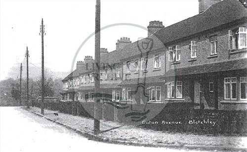 Eaton Avenue, from Leon Avenue, late 1930s. Illustrative photograph supplied by kind permission of  BCHI (Accession Ref: BLE/P/3390).