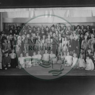 The Bletchley pageant cast celebrating 100 years of the Co-operative movement, 1944. Illustrative photograph supplied by kind permission of  BCHI (Accession Ref: BLE/048).