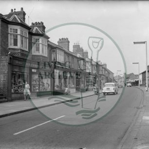 Illustrative photograph showing Victoria Road, Fenny Stratford with Corden's chemist on left. Original donated by Raymond Lubbock.