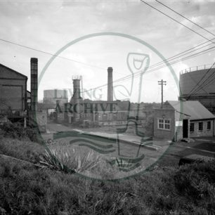 Bletchley Gasworks, 1957. Illustrative photograph supplied by Raymond Lubbock.