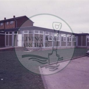 West Bletchley Community Centre. Illustrative photograph supplied by kind permission of BCHI (Accession Ref: BLE/P/156).