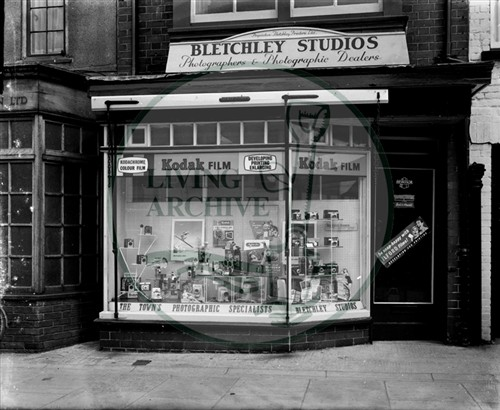 Bletchley Studios, Aylesbury Street. Photograph supplied by kind permission of Mr. Lubbock.