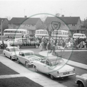 The Queen's visit to Warwick Place, Bletchley 1966. Illustrative photograph supplied by kind permission of BCHI (Accession Ref: BLE/P/470).