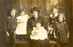 Photo of William, G. Hawes's wife and kids