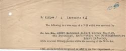 Albert Verney Thurlow's Will