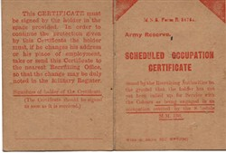 Scheduled Occupation Certificate